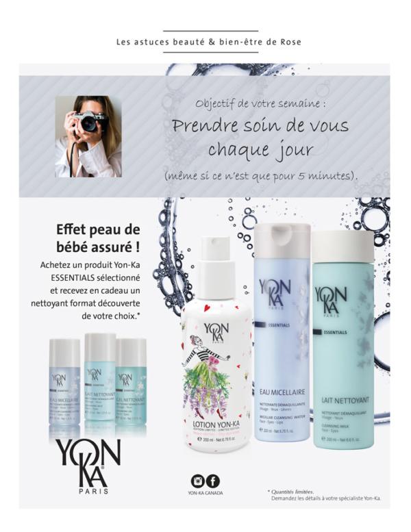 Promotion Yonka Juillet Aout 2019 - Essentials cadeau avec achat