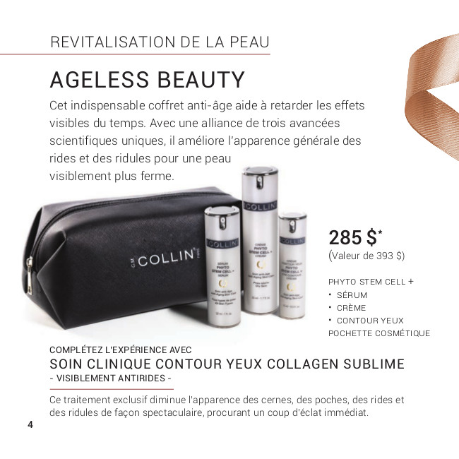 Promotion Noel 2019 - G.M Collin : Ageless Beauty