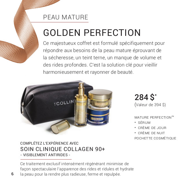 Promotion Noel 2019 - G.M Collin : Golden Perfection
